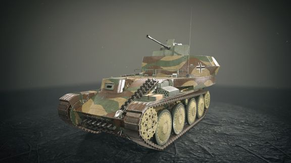 Flakpanzer 38 Gepard Tank -Game Ready