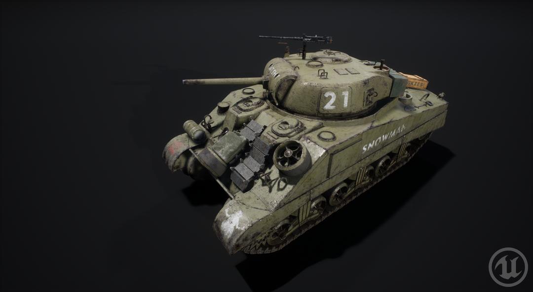 M4 Sherman Tank M4 Sherman Valurik 02 png