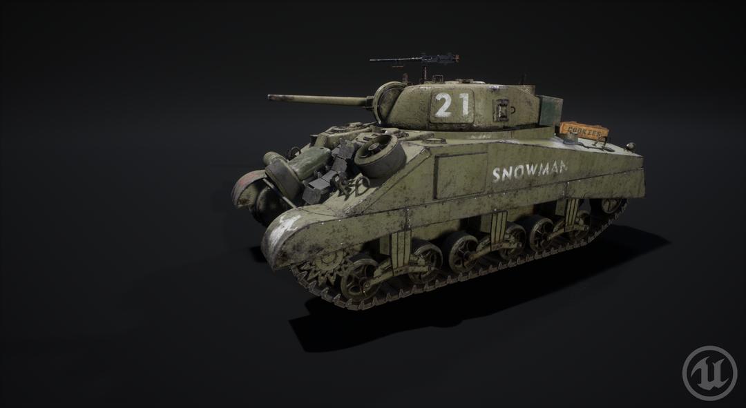 M4 Sherman Tank M4 Sherman Valurik 03 png