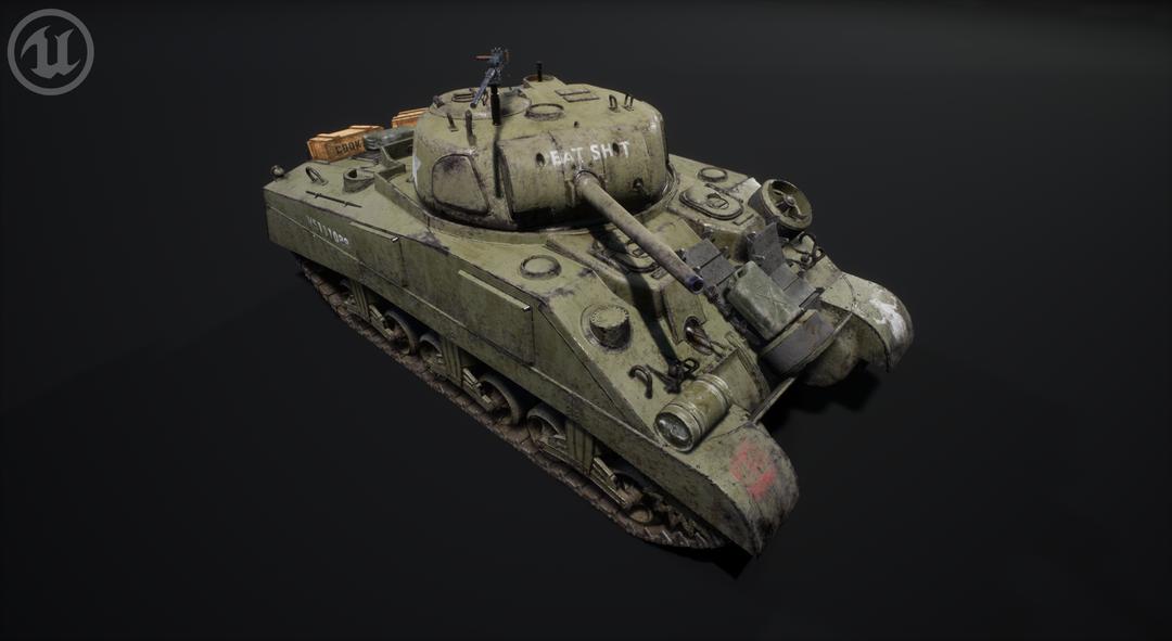 M4 Sherman Tank M4 Sherman Valurik 05 png