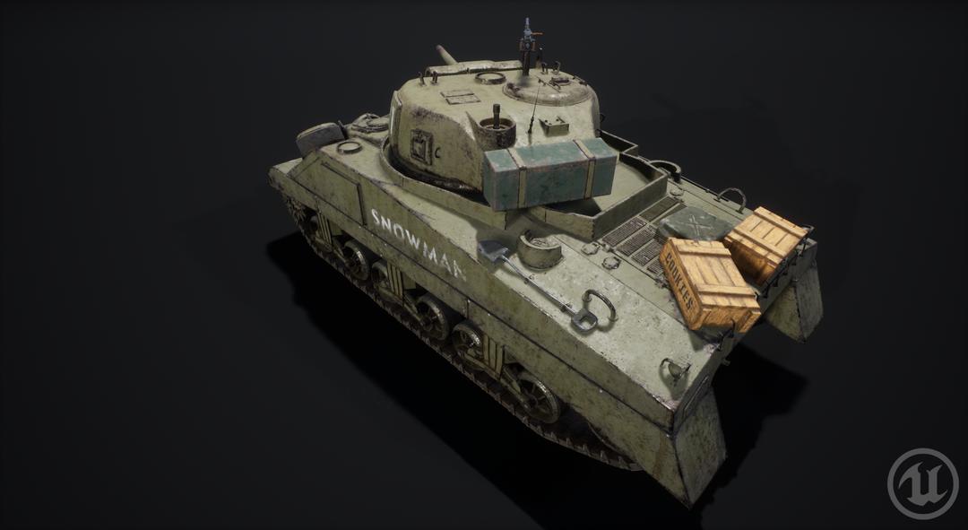 M4 Sherman Tank M4 Sherman Valurik 06 png