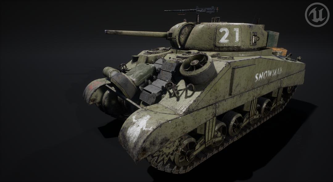 M4 Sherman Tank M4 Sherman Valurik 07 png