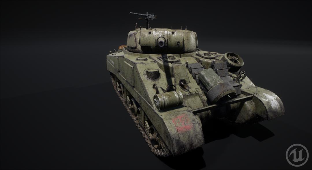 M4 Sherman Tank M4 Sherman Valurik 08 png