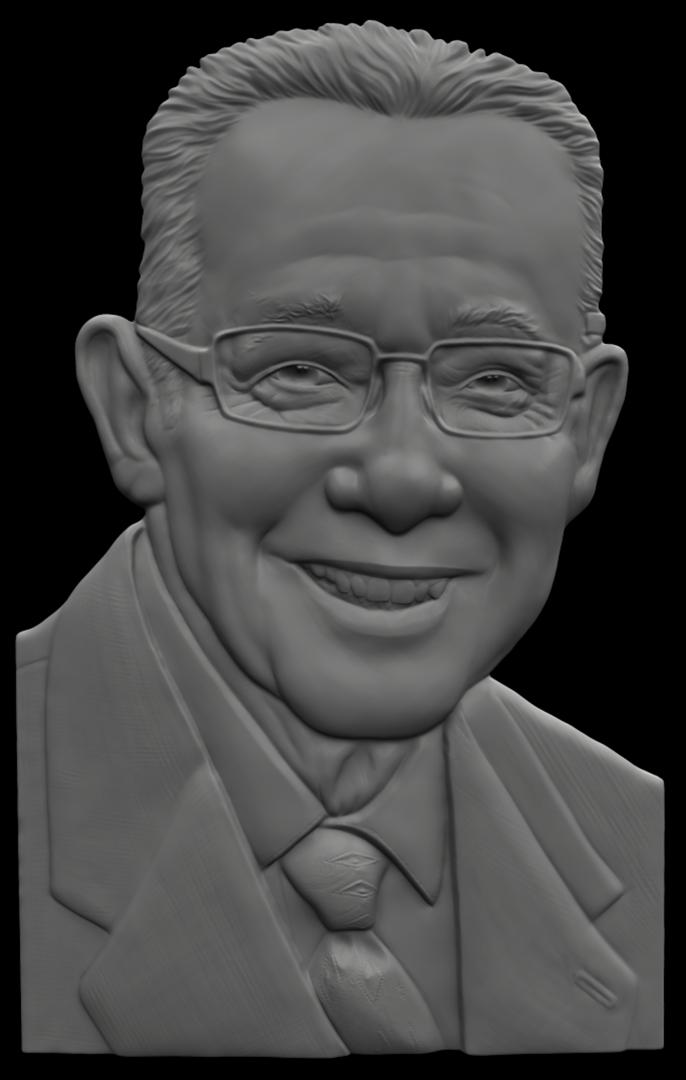 Portrait Relief Sculpt TrialSculptBW png