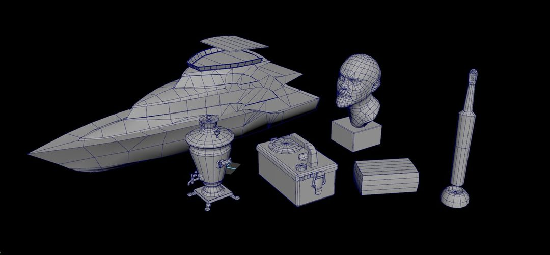 Game Props For Hitman 2 wireframe jpg