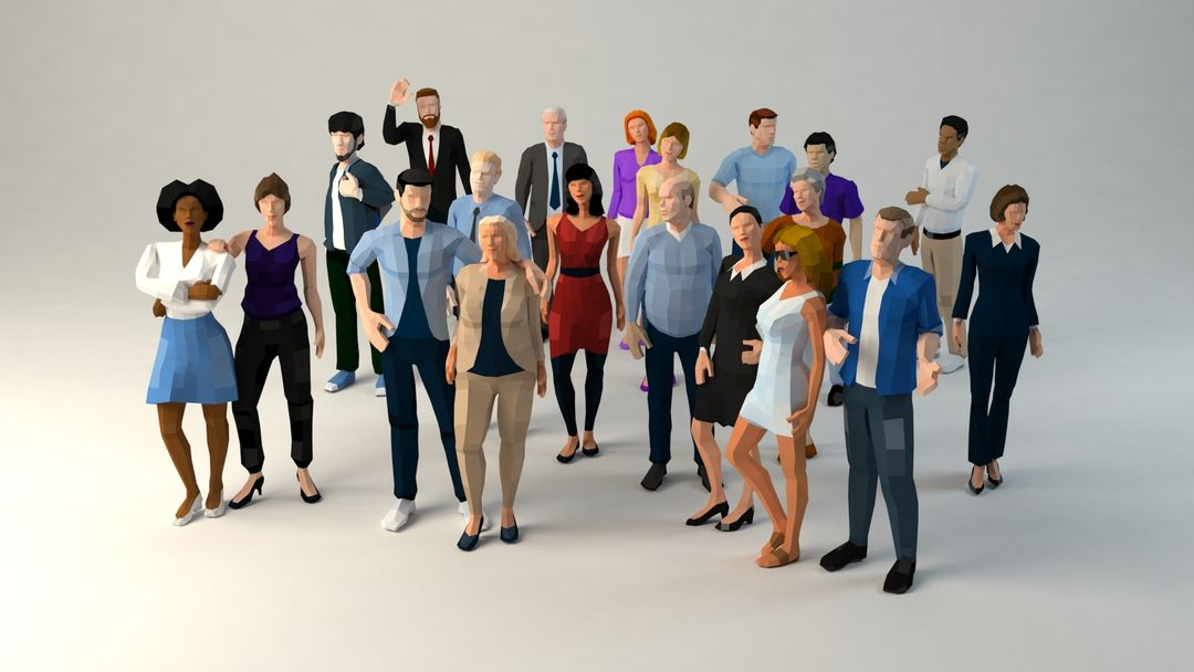 Low Poly Style lp citypeople context vray01 jpg