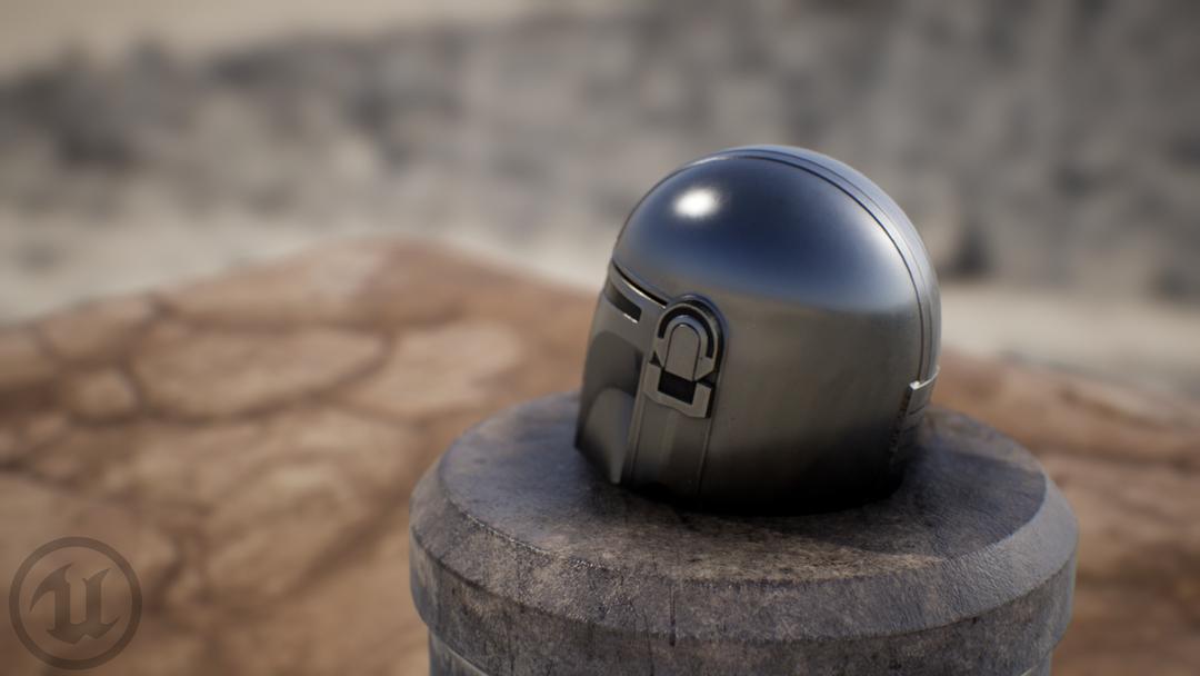 Mandalorian Helm HM UE render 02 png