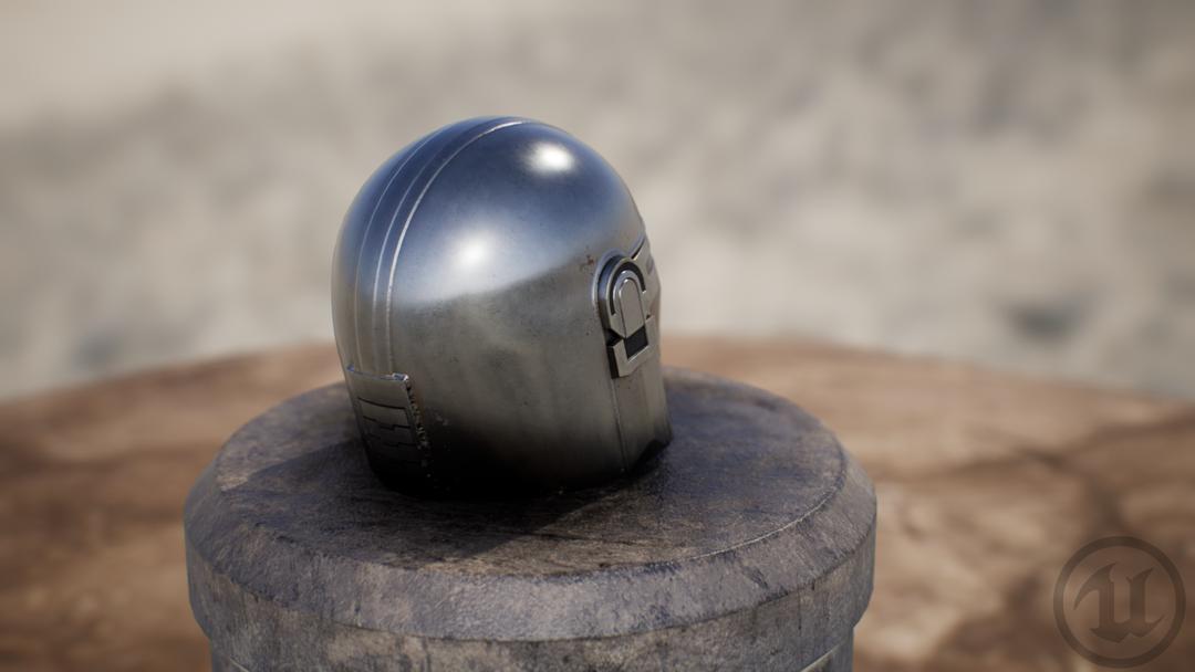 Mandalorian Helm HM UE render 03 png