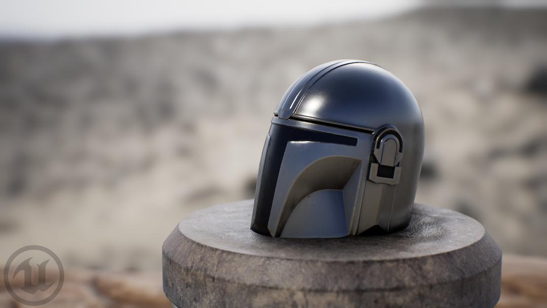 Mandalorian Helm HM UE render 04 png
