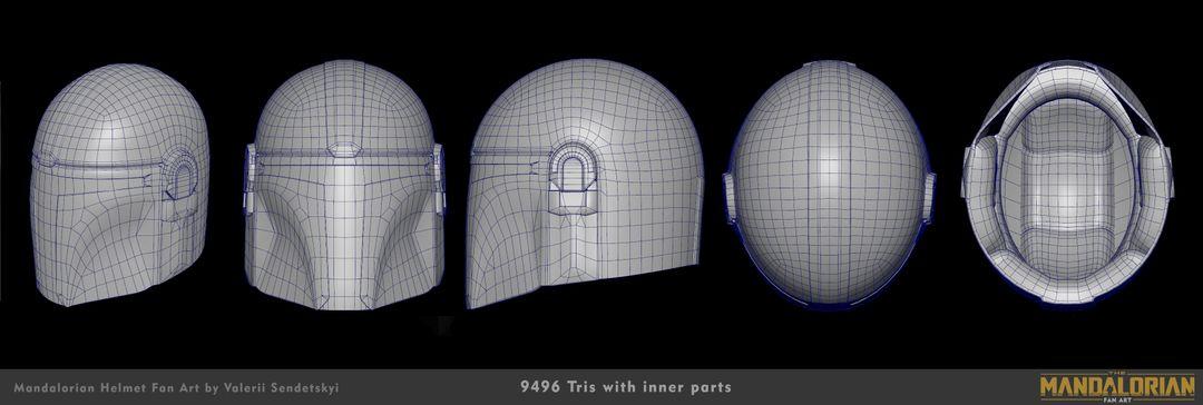 Mandalorian Helm MH Wireframe 01 jpg