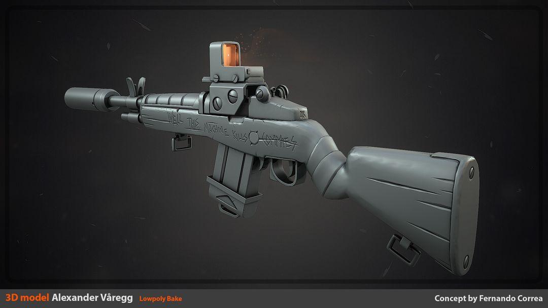 Stylized Rifle alexander varegg commie bake jpg