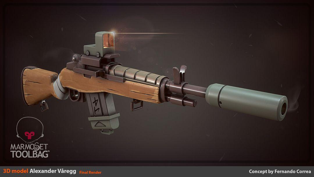 Stylized Rifle alexander varegg commie filarrender2 jpg