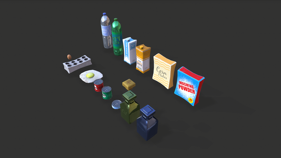 Stylized Kitchen Items Pack