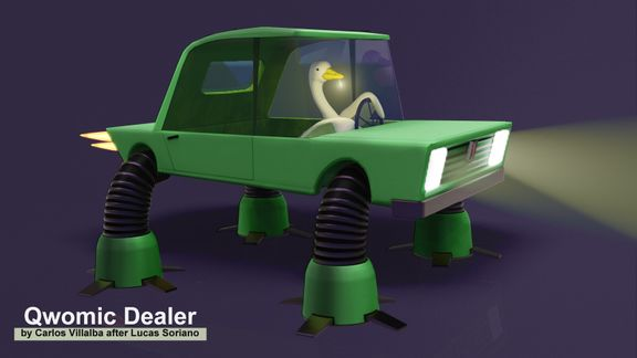 Stylized car