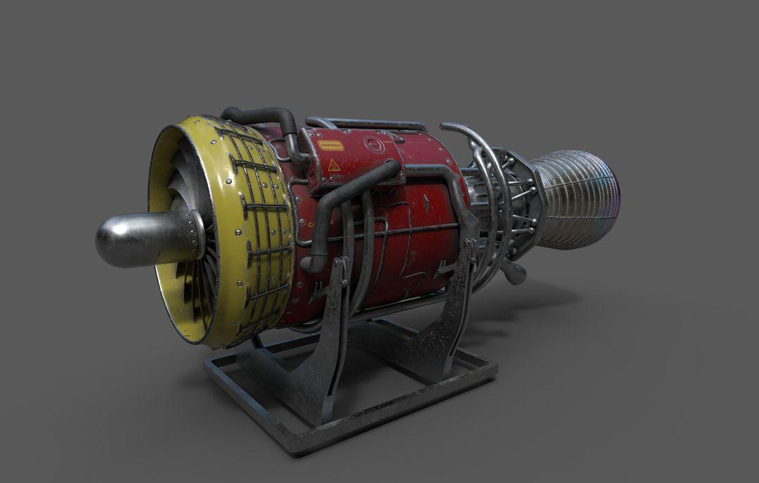 Scifi Jet Engine render01 jpg