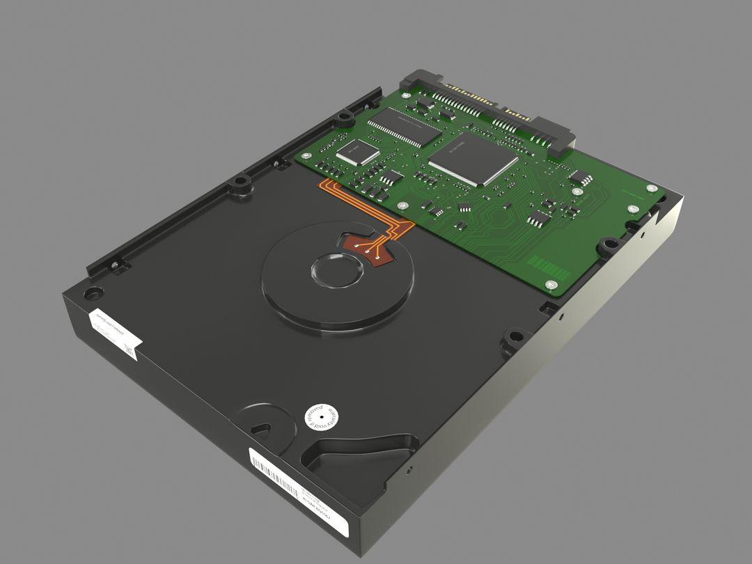 Hard Disk hard surface model vray01 jpg
