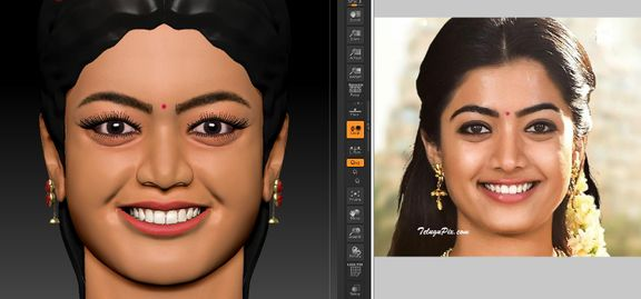 Actress face photo to 3dmodel
