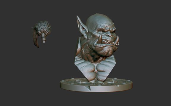 Orc Bust for 3D Print