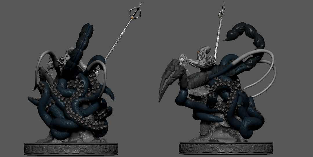 Krahuzen - Lord of The Abyss Final Pose 2 png