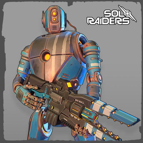 Sol Raiders VR Bot - Blue