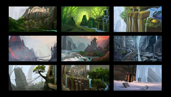 Environment design thumbnails