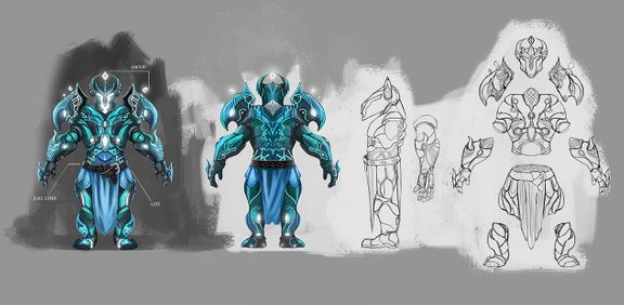 Magic armor set - concept design