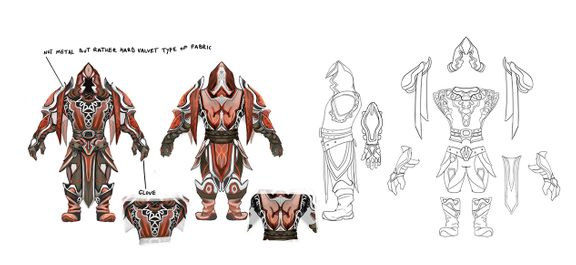 Light armor set - concept art