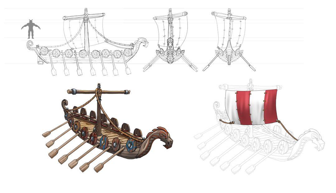 Viking Ship - prop concept design ship concept art jpg