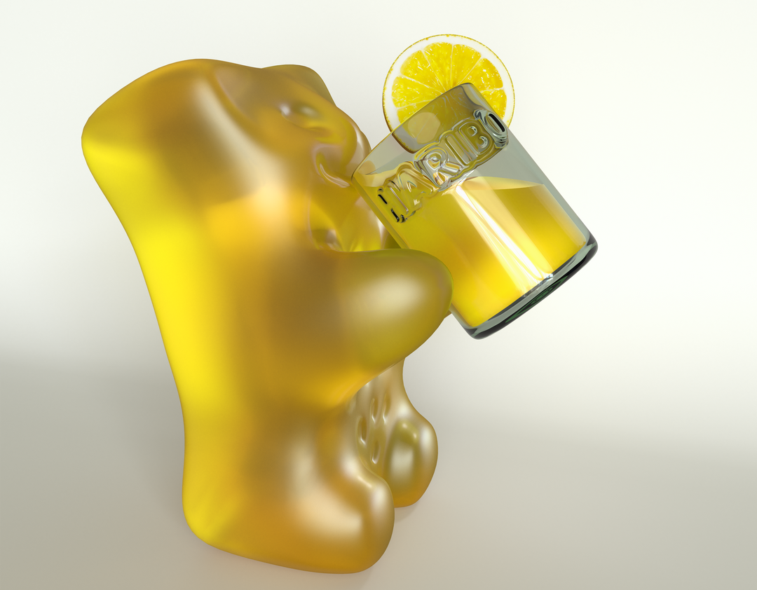 Haribo Gummy Bears for a Campaign HB BEAR LEMON RV02 1 png