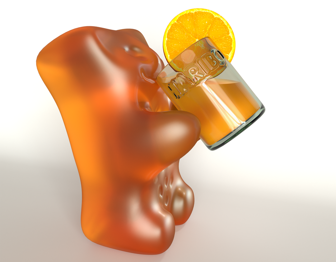 Haribo Gummy Bears for a Campaign HB BEAR ORANGE RV02 1 png