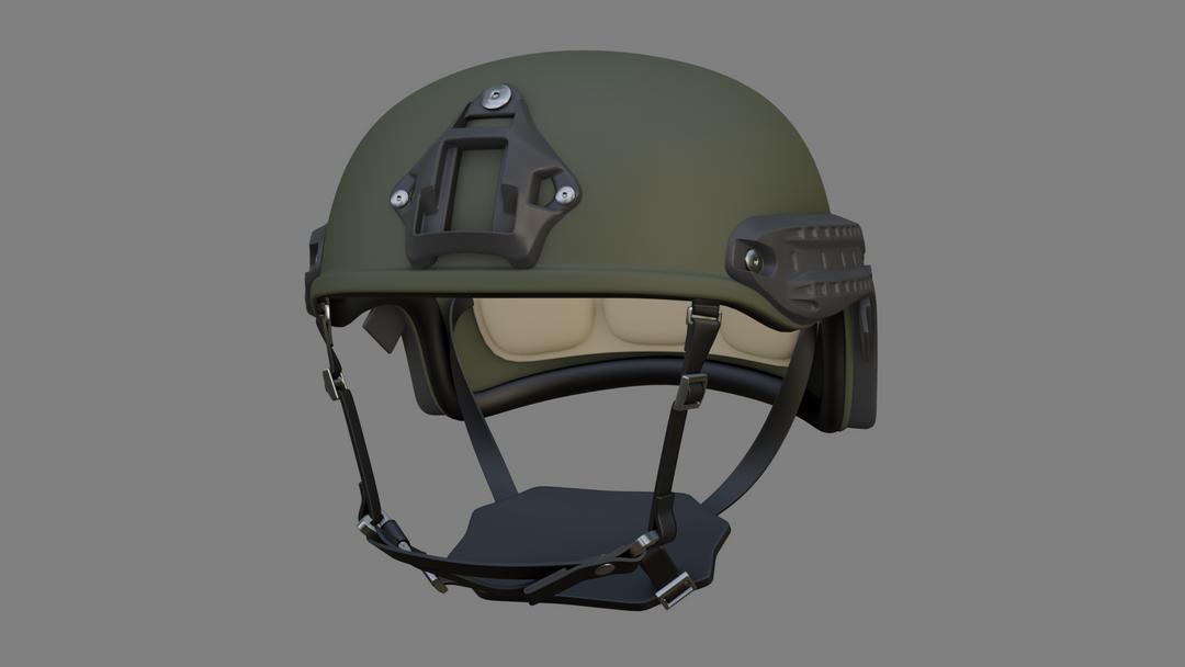 Lowpoly Tactical Helmet Model (Unity) HELMET 01 png