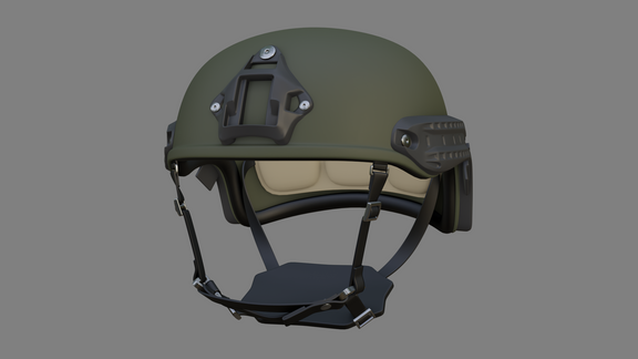 Lowpoly Tactical Helmet Model (Unity)