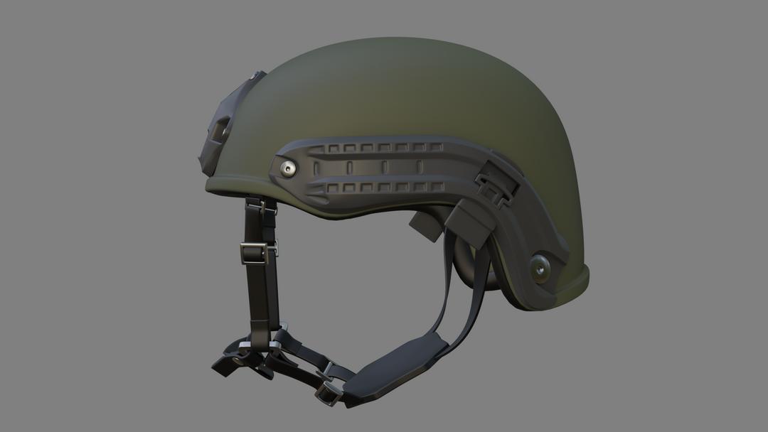 Lowpoly Tactical Helmet Model (Unity) HELMET 02 png
