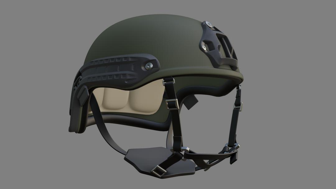 Lowpoly Tactical Helmet Model (Unity) HELMET 03 png