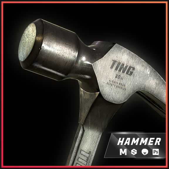 Claw Hammer - Game Asset