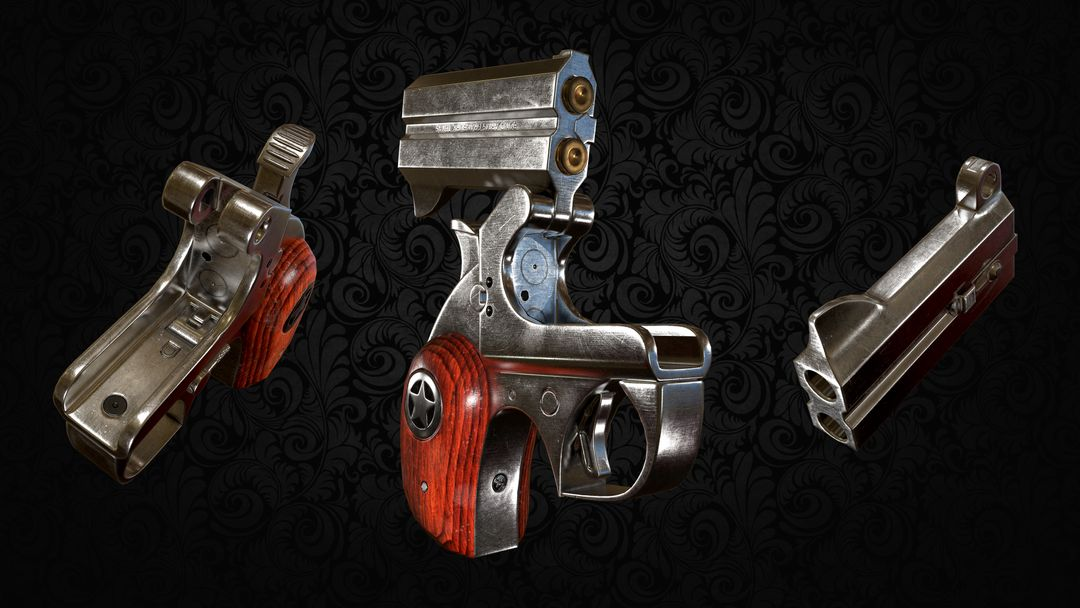 Derringer Pistol - Game Asset 3 Opened jpg