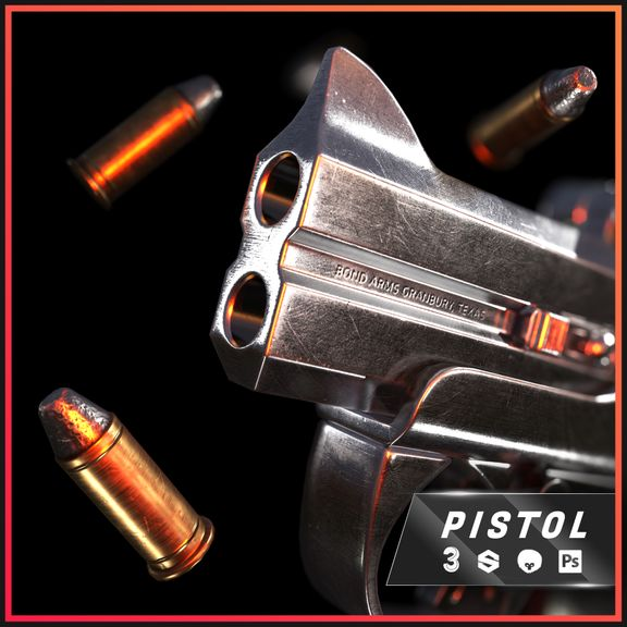 Derringer Pistol - Game Asset
