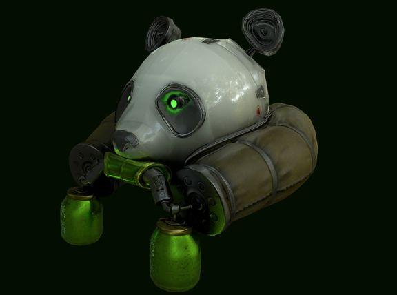 Panda Helm(game asset