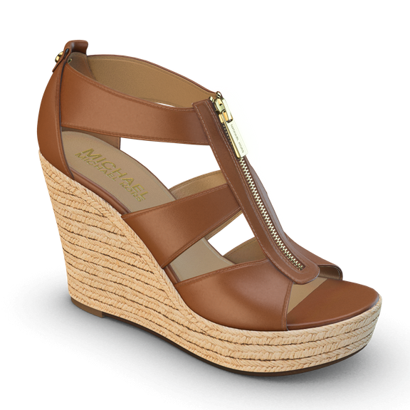 Damita Platform Wedge Sandals (brown)