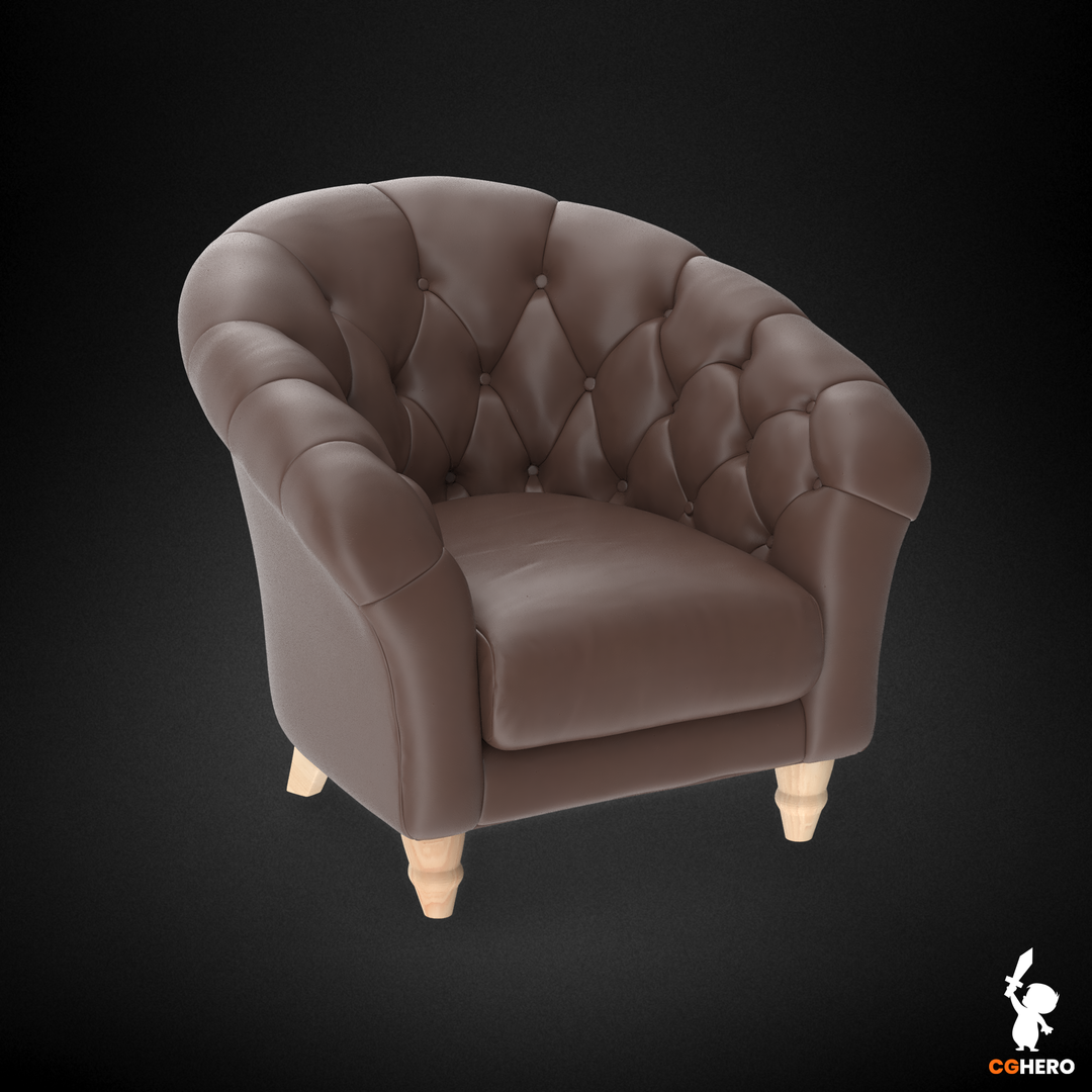 Armchair Visualisation Configuartor Cupcake Armchair Brown Leather png