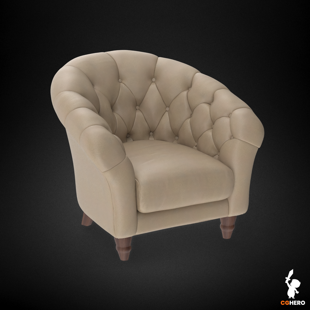 Armchair Visualisation Configuartor Cupcake Armchair Cream Leather png