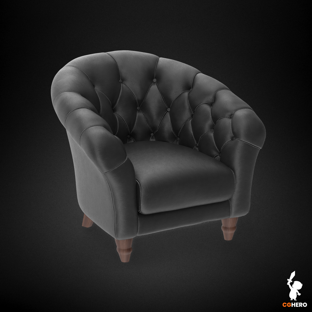 Armchair Visualisation Configuartor Cupcake Armchair Leather Black png