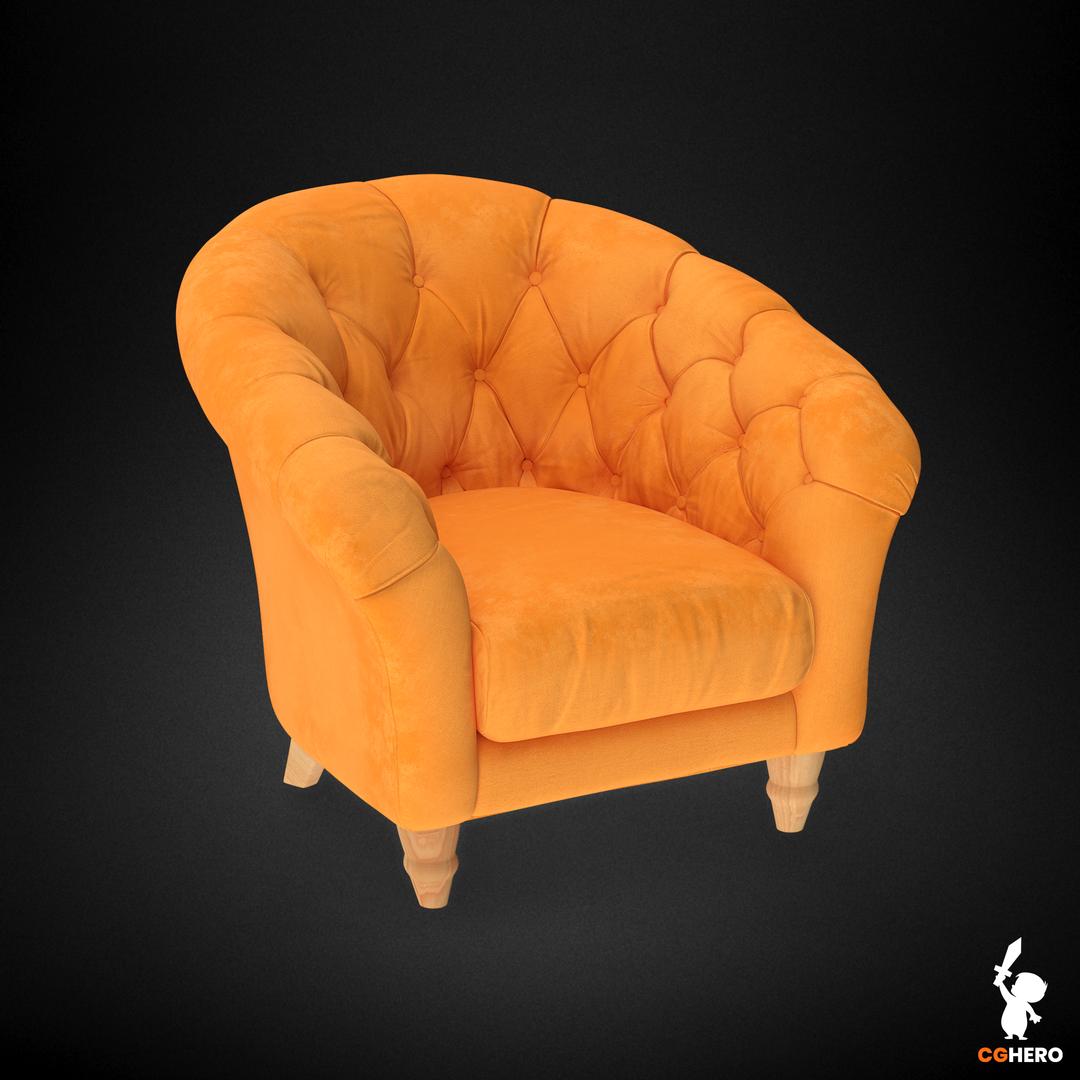 Armchair Visualisation Configuartor Cupcake Armchair Orange png