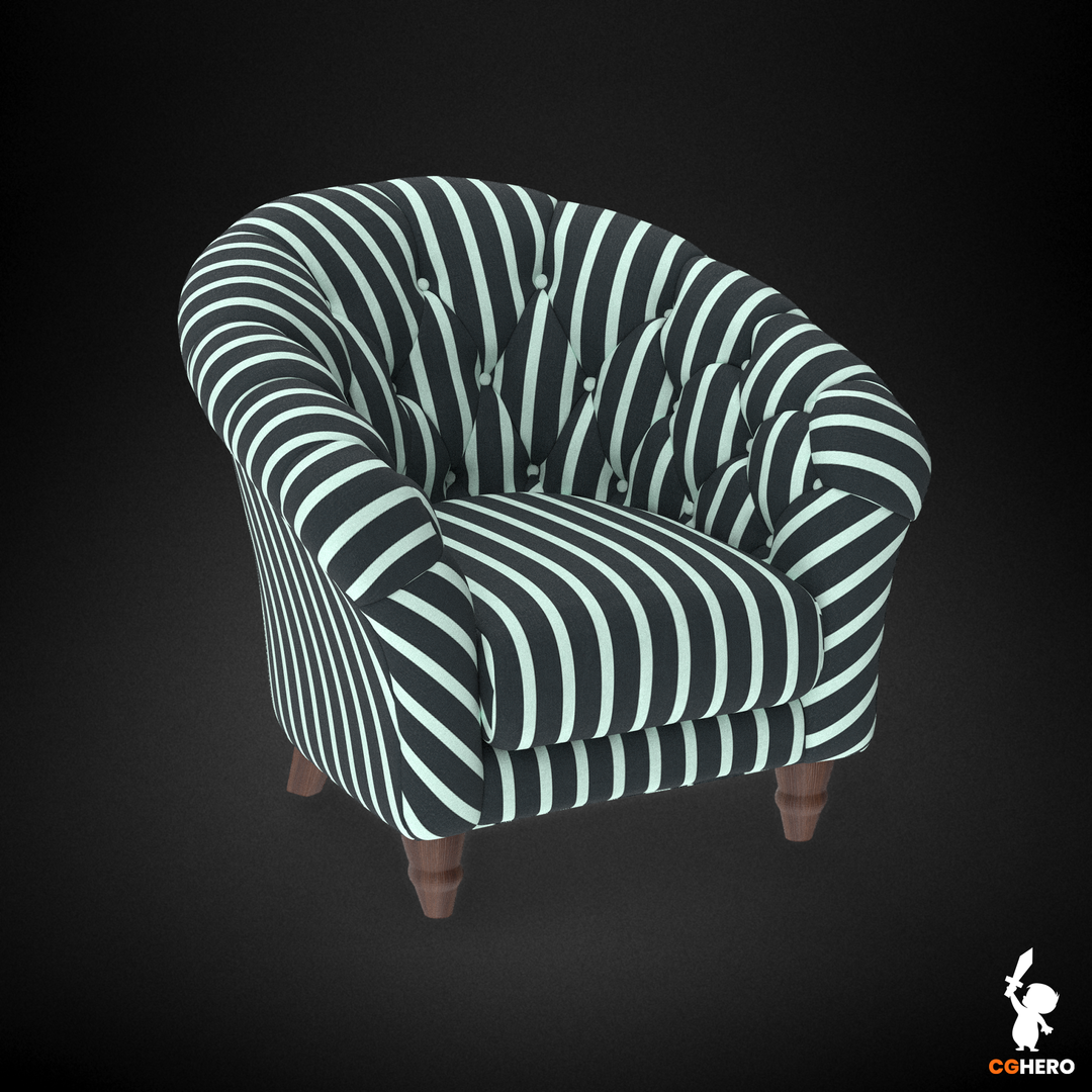 Armchair Visualisation Configuartor Cupcake Armchair Stripes png
