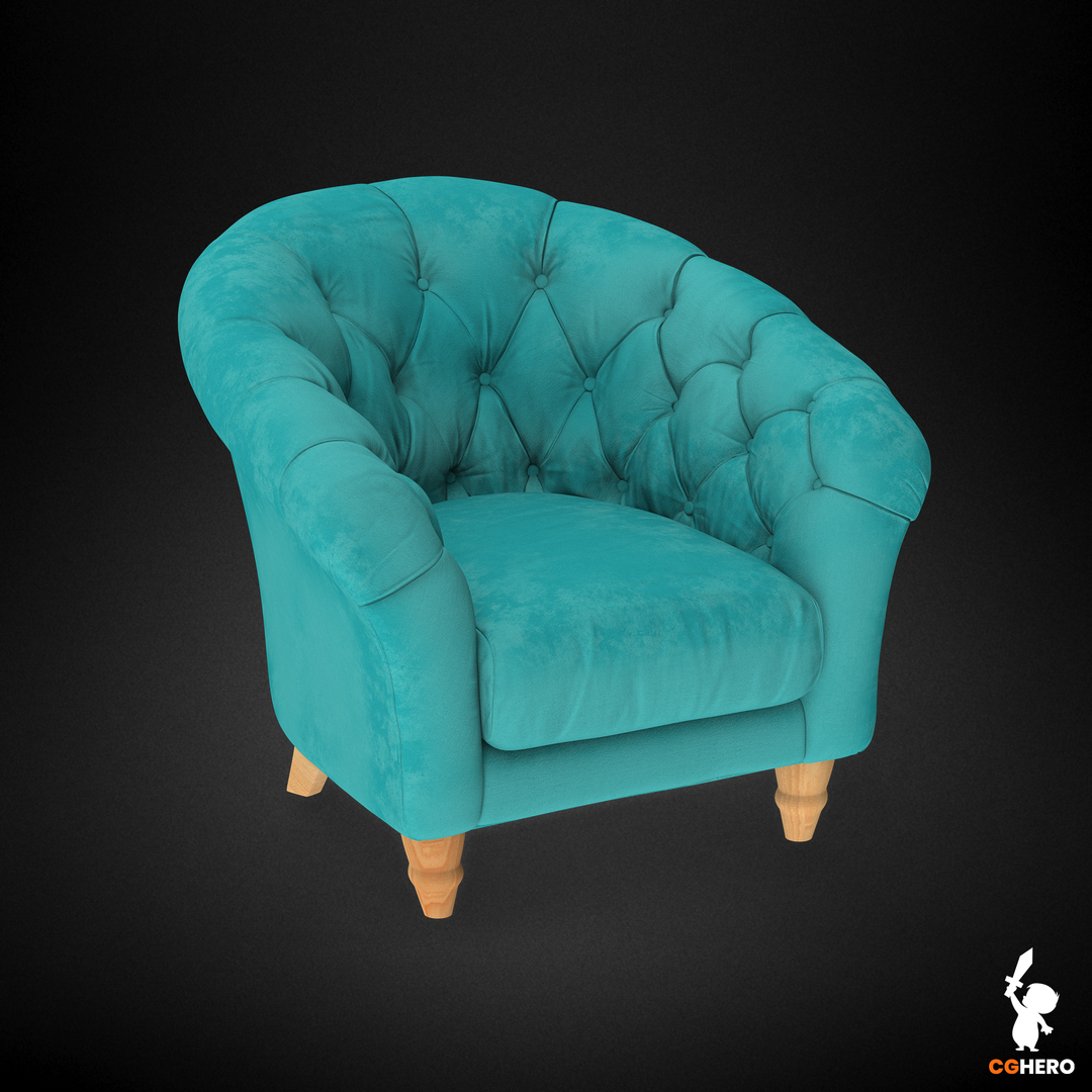 Armchair Visualisation Configuartor Cupcake Armchair Teal png