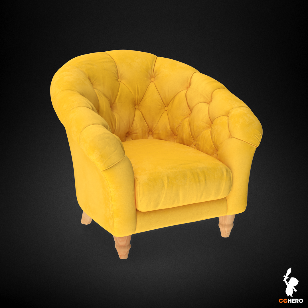 Armchair Visualisation Configuartor Cupcake Armchair Yellow png