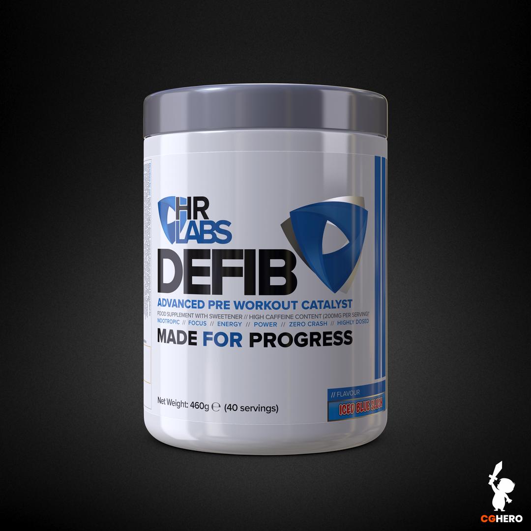 Product Packaging Visualisation DEFIB IcedBlueSlush 1000ml png