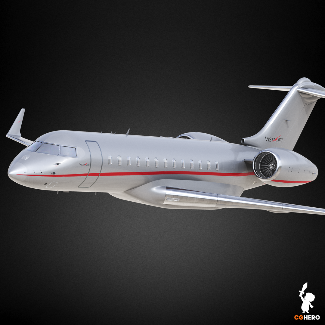 Bombardier Global 6000 Jet Visualisation VistaJet 6000 Preview0 png