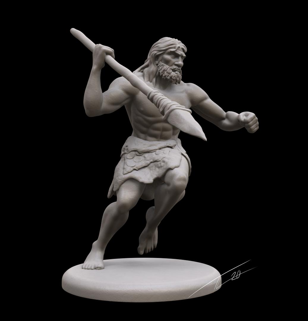 Neanderthal Mini CavemanMainBW png