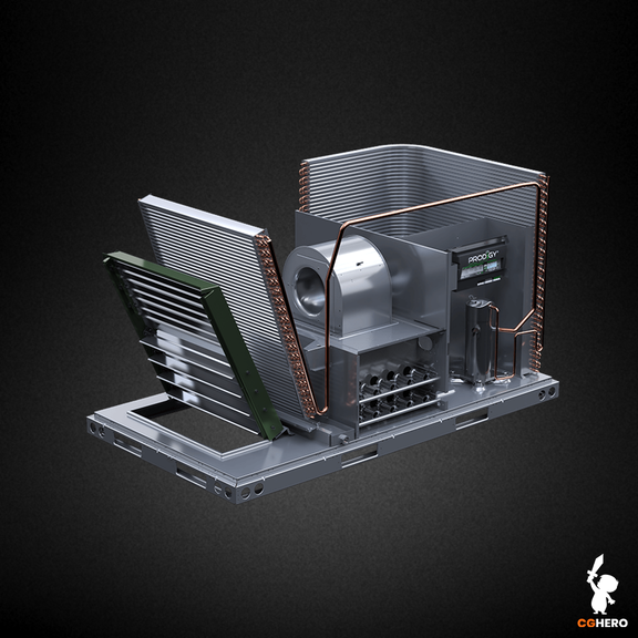 A-Box HVAC Visualisation and Animation